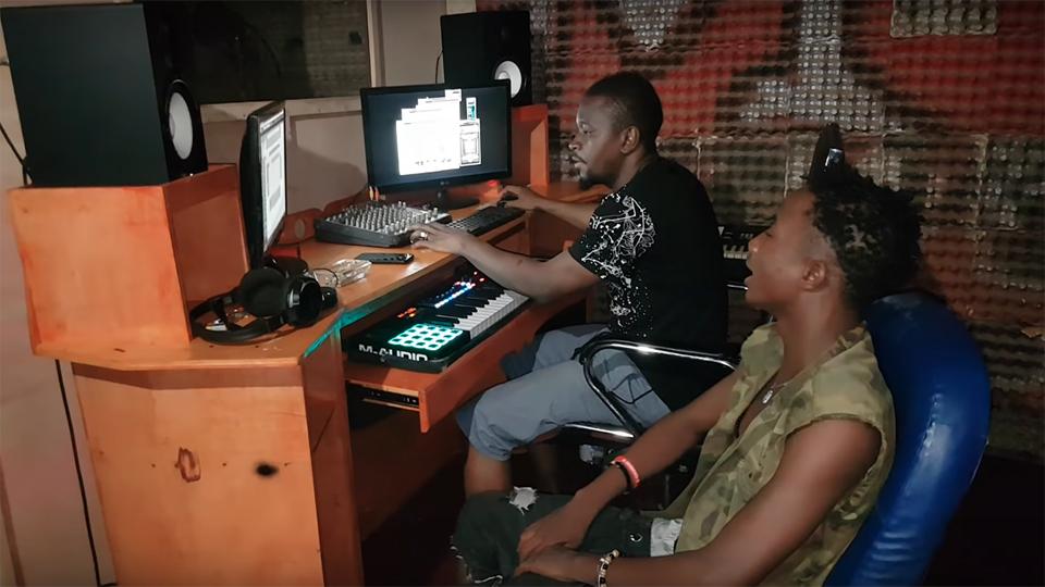 WIZ MONTANA le portrait craché de IBA MONATA studio time chez M3 MUSIC